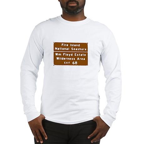 Fire Island Exit Sign T-shirt Long Sleeve T-Shirt