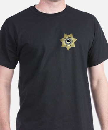 PIG Sheriff Badge Black T-Shirt