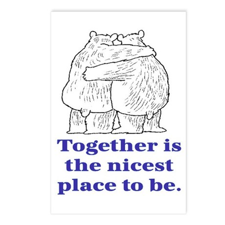 TOGETHER IS THE NICEST PLACE TO BE Postcards (Pack