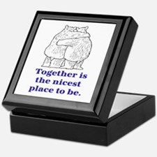 TOGETHER IS THE NICEST PLACE TO BE Keepsake Box