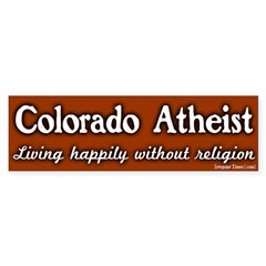 Colorado Atheist Bumper Bumper Sticker