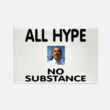 All hype. No substance. (rectangular magnet)