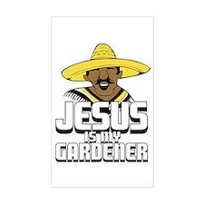 Jesus is my gardener Rectangle Decal