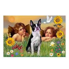 Angels & Boston Terrier Postcards (Package of 8)