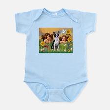 Angels & Boston Terrier Infant Bodysuit