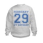 Varsity 29 Birthday Kids Sweatshirt