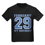 Varsity 29 Birthday Kids Dark T-Shirt