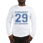 Varsity 29 Birthday Long Sleeve T-Shirt