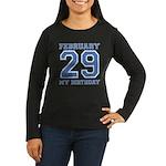 Varsity 29 Birthday Women's Long Sleeve Dark T-Shi