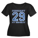 Varsity 29 Birthday Women's Plus Size Scoop Neck D