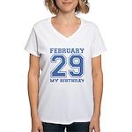 Varsity 29 Birthday Women's V-Neck T-Shirt