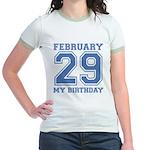 Varsity 29 Birthday Jr. Ringer T-Shirt