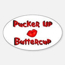 RK Pucker Up Buttercup Oval Decal