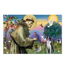 St Francis & Boston Terrier Postcards (Package of