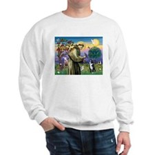 St Francis & Boston Terrier Sweatshirt