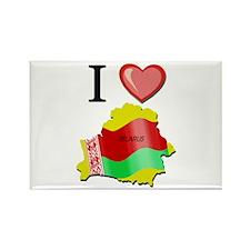 I Love Belarus Rectangle Magnet