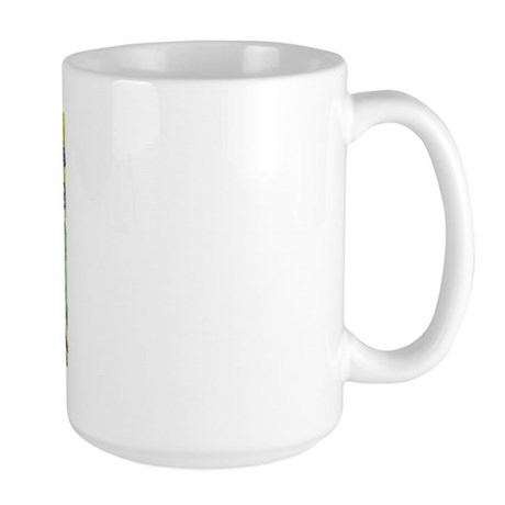 Irises & Boston Terrier Large Mug