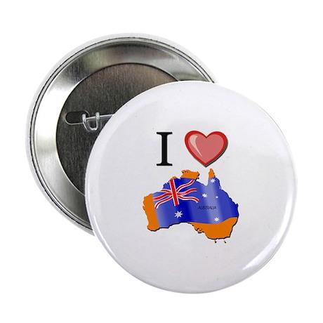 """I Love Australia 2.25"""" Button"""