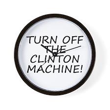 Anti-Hillary & Bill Clinton M Wall Clock