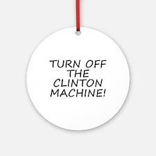 Anti-Hillary & Bill Clinton M Ornament (Round)
