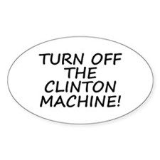 Anti-Hillary & Bill Clinton M Oval Decal
