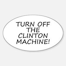 Anti-Hillary & Bill Clinton M Oval Decal
