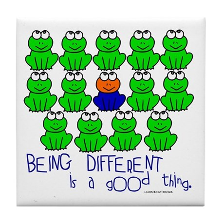 Being Different 1 (FROGS) Tile Coaster