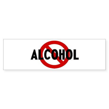 Anti alcohol Bumper Sticker