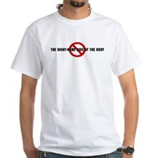 Anti the right-hand side of t Shirt