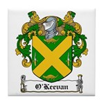 O'Keevan Family Crest Tile Coaster