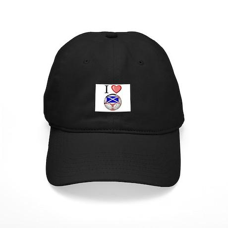 I Love Scotland Football Black Cap