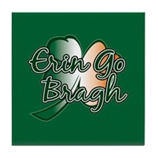 Erin Go Bragh v14 Tile Coaster