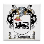 O'Kennelly Family Crest Tile Coaster