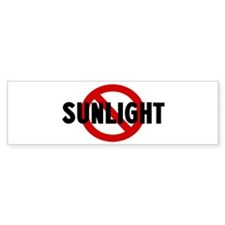 Anti sunlight Bumper Bumper Sticker