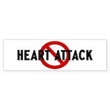 Anti heart attack Bumper Bumper Sticker