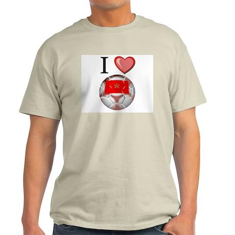 I Love Morocco Football Light T-Shirt