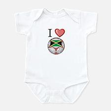 I Love Jamaica Football Infant Bodysuit