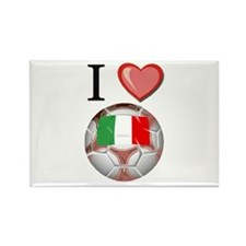 I Love Italy Football Rectangle Magnet