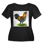 Easter Egg Rooster Women's Plus Size Scoop Neck Da