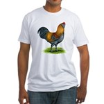Easter Egg Rooster Fitted T-Shirt