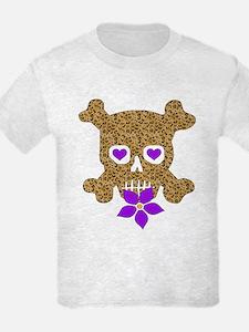 Leopard Skull Anti-Valentine T-Shirt