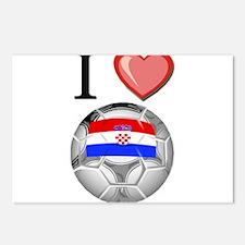 I Love Croatia Football Postcards (Package of 8)