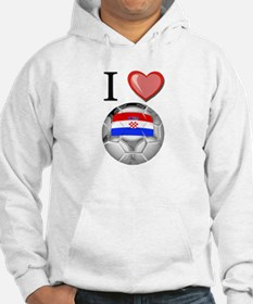 I Love Croatia Football Hoodie Sweatshirt