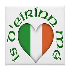 'I Am of Ireland' (Heart) Ceramic Tile