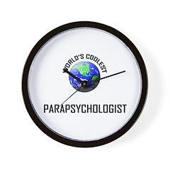World's Coolest PARAPSYCHOLOGIST Wall Clock