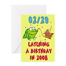 BLANK INTERIOR Leap Year Birthday Card