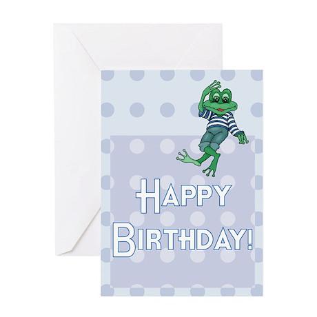 BLANK INTERIOR Frog Birthday Card