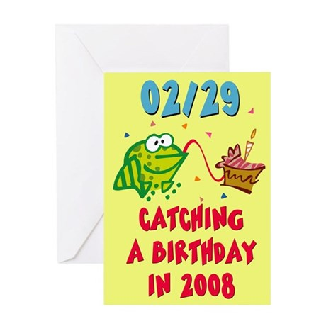 Leap Year Baby Greeting Cards Thank You Cards and Custom Cards
