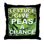 """Give Peas a Chance"" Throw Pillow"
