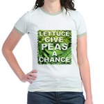 """Give Peas a Chance"" Jr. Ringer T-Shirt"